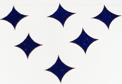 Parampara Blue Star Bindi Forehead Blue Bindis