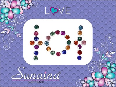 Sunaina Love Diamond Collection Forehead Multicolor Bindis(Fancy Design)