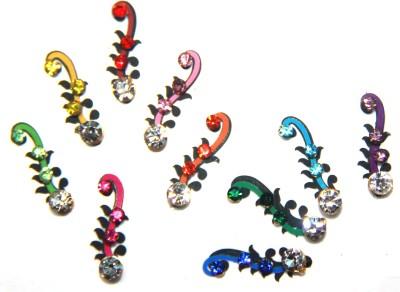 Fusionjewels Multi Colour Zircon Bindi Forehead Multicolor Bindis