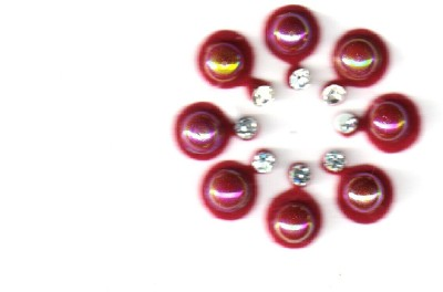 Fashion Max Fancy Red Reflected Pearl Forehead Red Bindis