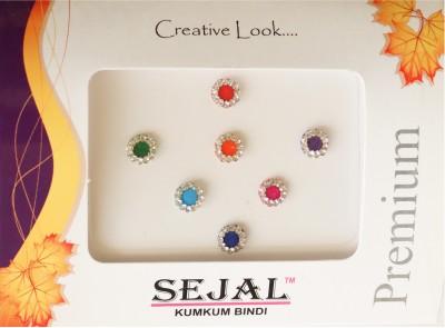 Sejal Bindi Diamond Collection Stone Border Forehead Multicolor Bindis