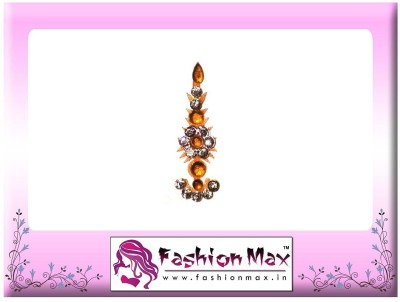 Fashion Max Highly Decorative Long Tikka Bindi Forehead Yellow Bindis