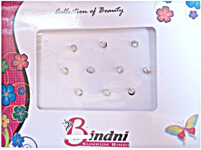 DCS Round Glitter Forehead Multicolor Bindis(Bridal Bindi)