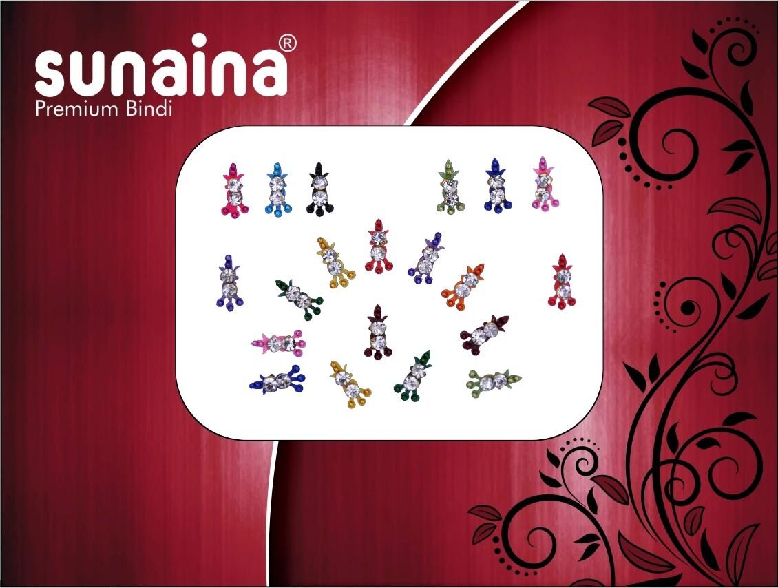 Sunaina Premium Collection Forehead Multicolor Bindis(Fancy Design)