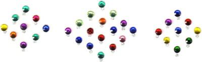 Fashion Max Multicolored Fancy Crystal Forehead Multicolor Bindis