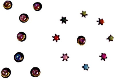 DCS Round And Star Shape Forehead Multicolor Bindis