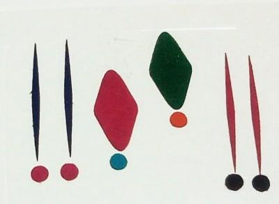 Parampara Multi Designe And Colour Forehead Multicolor Bindis