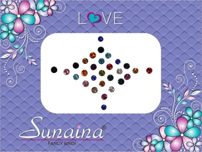 Sunaina Diamond Collection Forehead Multicolor Bindis