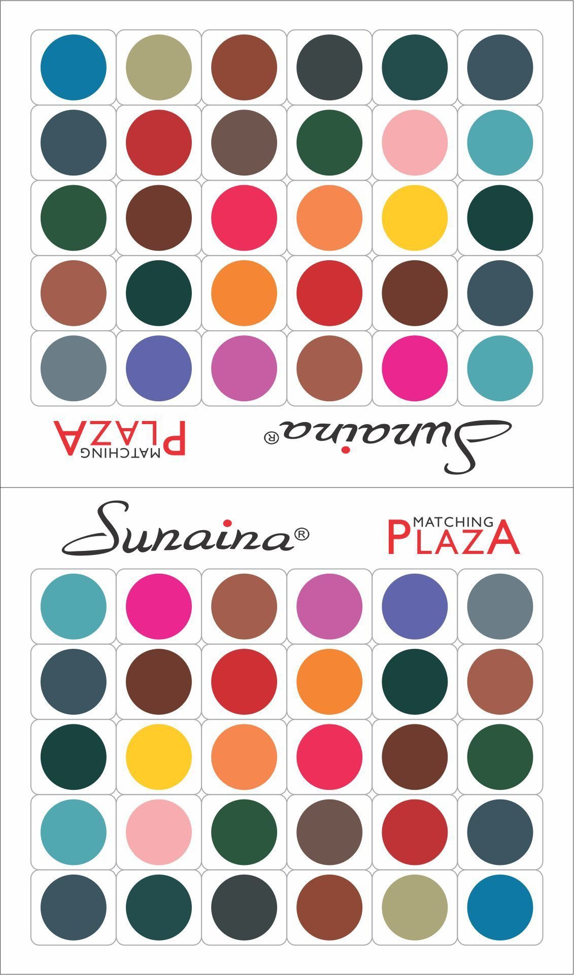 Sunaina Matching Plaza Size-2 Forehead Multicolor Bindis(Fancy Design)