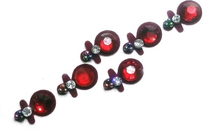 Fashion Max Reflective Crystal Forehead Red Bindis