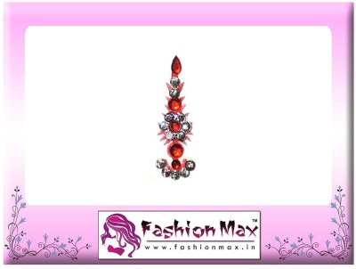 Fashion Max Highly Decorative Long Tikka Bindi Forehead Red Bindis