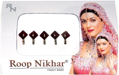 Roop Nikhar Cubic with Crystal Latkan Vivah Collection Forehead Maroon Bindis