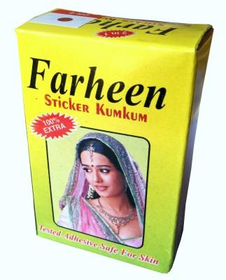 FARHEEN sticker kumkum plain forehead Maroon Bindis