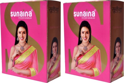 Sunaina Sticker Kumkum Combo Pack Of 2 R-6 FOREHEAD Red Bindis(Fancy Design)