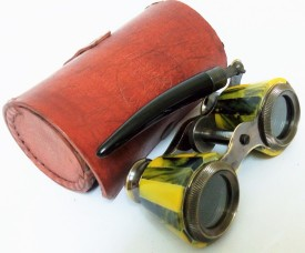 Kartique Pure Brass and Leather Case Binoculars