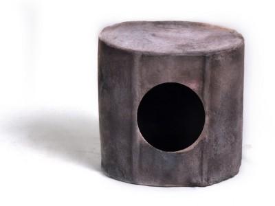 M I Productions Ceramic Bird Box - BP10 (Smokey) Common Bird Feeder(Grey)