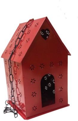 TNZ Creations Window Bird Feeder Bird Feeder(Red)