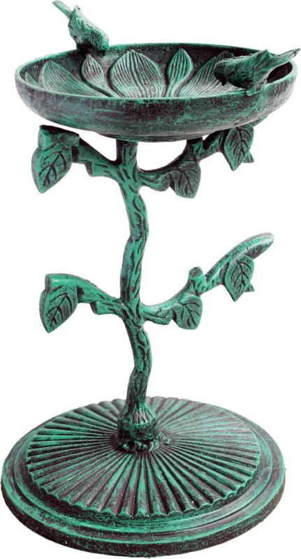 Karara Mujassme Cast Iron Bath Common Bird Feeder(Green)