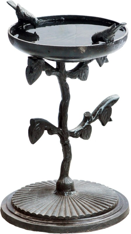Karara Mujassme Antique Style Bird Bath Common Bird Feeder(Black)