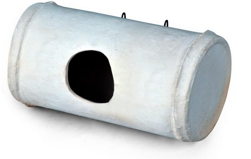 M I Productions Cearmic Bird Box - BP09W (White) Tube Bird Feeder(Grey)