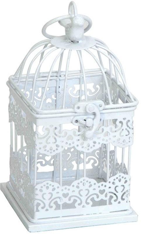 Deziworkz White Mughal Jaal Birdcage Hanging-Home - Garden Decor-Indoor/Outdoor Decor Bird House(Hanging, Wall Mounting)