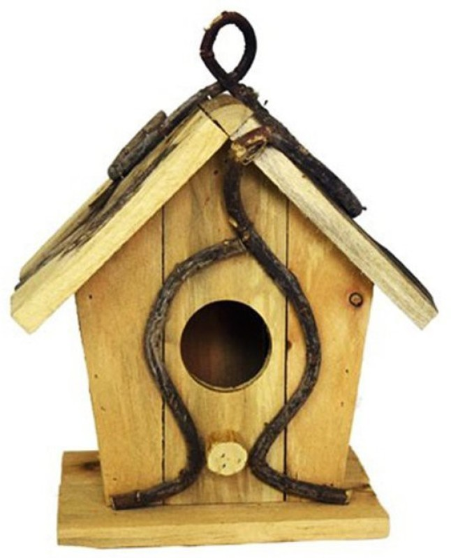 Shrih SH - 01826 Natural Wooden Bird House(Hanging, Wall Mounting)