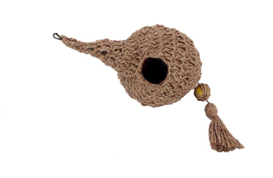View Jainsons nest jute Bird House(Hanging) Furniture (Jainsons)