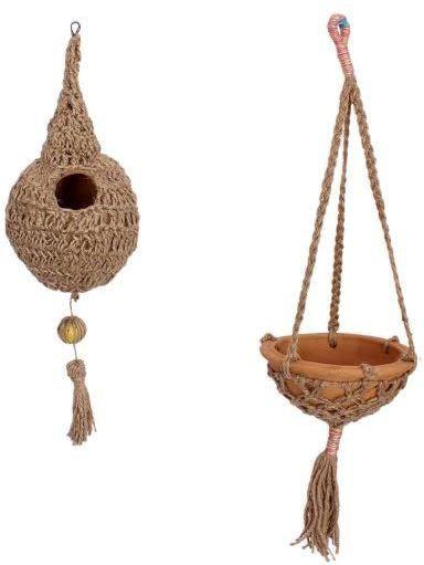 View Jainsons NEST SET JUTE Bird House(Hanging) Furniture (Jainsons)