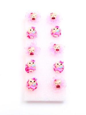 Sanjog Return Gift Cute Kitty Baby Pink Finger Rings For Girls/Kids For Birthday/Party