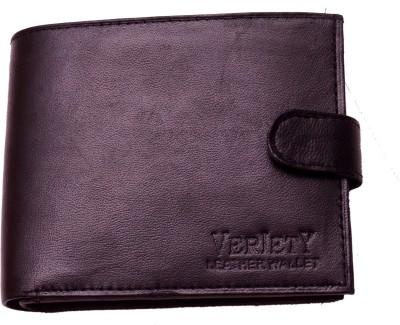 Attitude Works Men Black Genuine Leather Wallet
