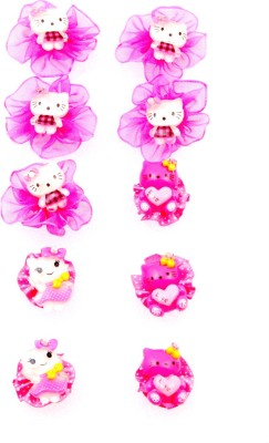 Sanjog Return Gift Cute Kitty Pink Finger Rings For Girls/Kids For Birthday/Party
