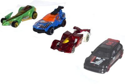 Imported 4 pc Hot Wheels Car Set(colour & Design may Vary)