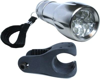 AdraxX Silver Metalic Front Light with Holder Bite Indicator