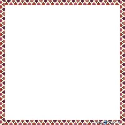WallDesign Tiger Dots Border Writing Film Magnetic Memo White board