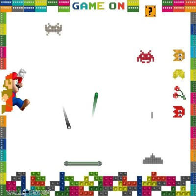 WallDesign Game On Writing Film Magnetic Memo White board