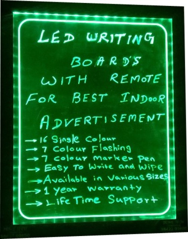 PRIME TECH LED WRITING.GREEN 05 Black board(92 cm x 68 cm)