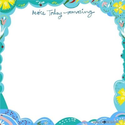 WallDesign Make Today Amazing Writing Film Magnetic Memo White board