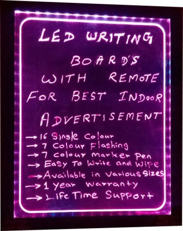 PRIME TECH LED WRITING.PINK ATTRACT Black board(92 cm x 68 cm)