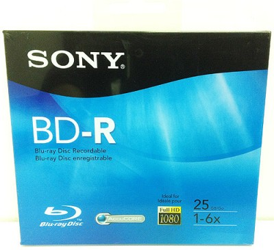 Sony Blu-ray Recordable Plastic Case 25 GB(Pack of 10)