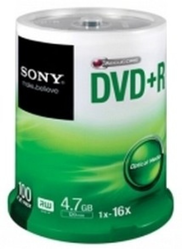 Sony DVD+R 100 Pack Spindle(Pack of 100)