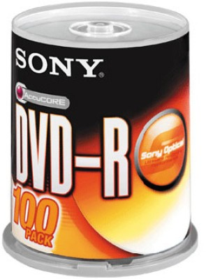 Sony DVD-R 100 Pack Spindle(Pack of 100)