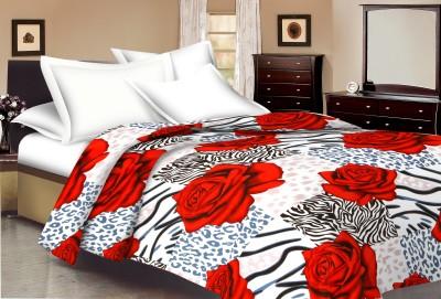Ridan Floral Single Dohar Red