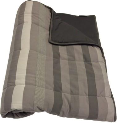Wobbly Walk Striped Single Blanket Gray