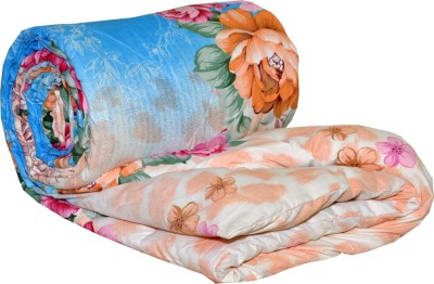AJ Home Floral Single Quilts & Comforters Blue