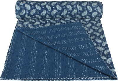 Rajcrafts Floral Double Quilts & Comforters Blue