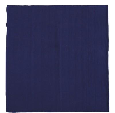 Saral Home Plain Double Throw Navy Blue