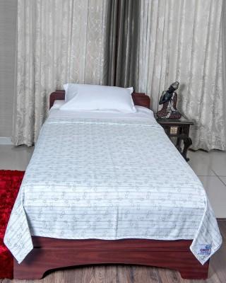 Cozy Sleeeeeep Printed Single Dohar White Base