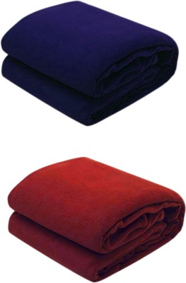 Paisa Worth Plain Double Blanket Multicolour