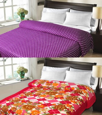 Sanvitraders Floral Double Blanket Multicolor
