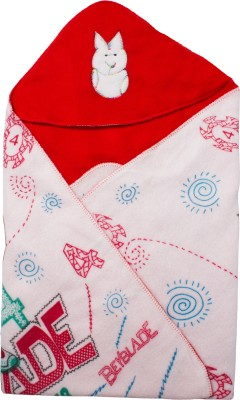 Utc Garments Cartoon Single Hooded Baby Blanket Red